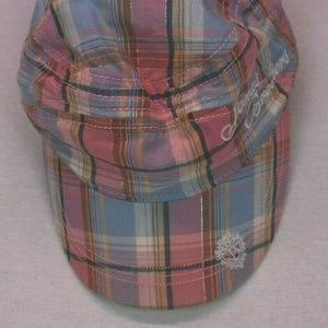 Jonas Brothers Women's Pink Plaid Newsboy Cap L/XL